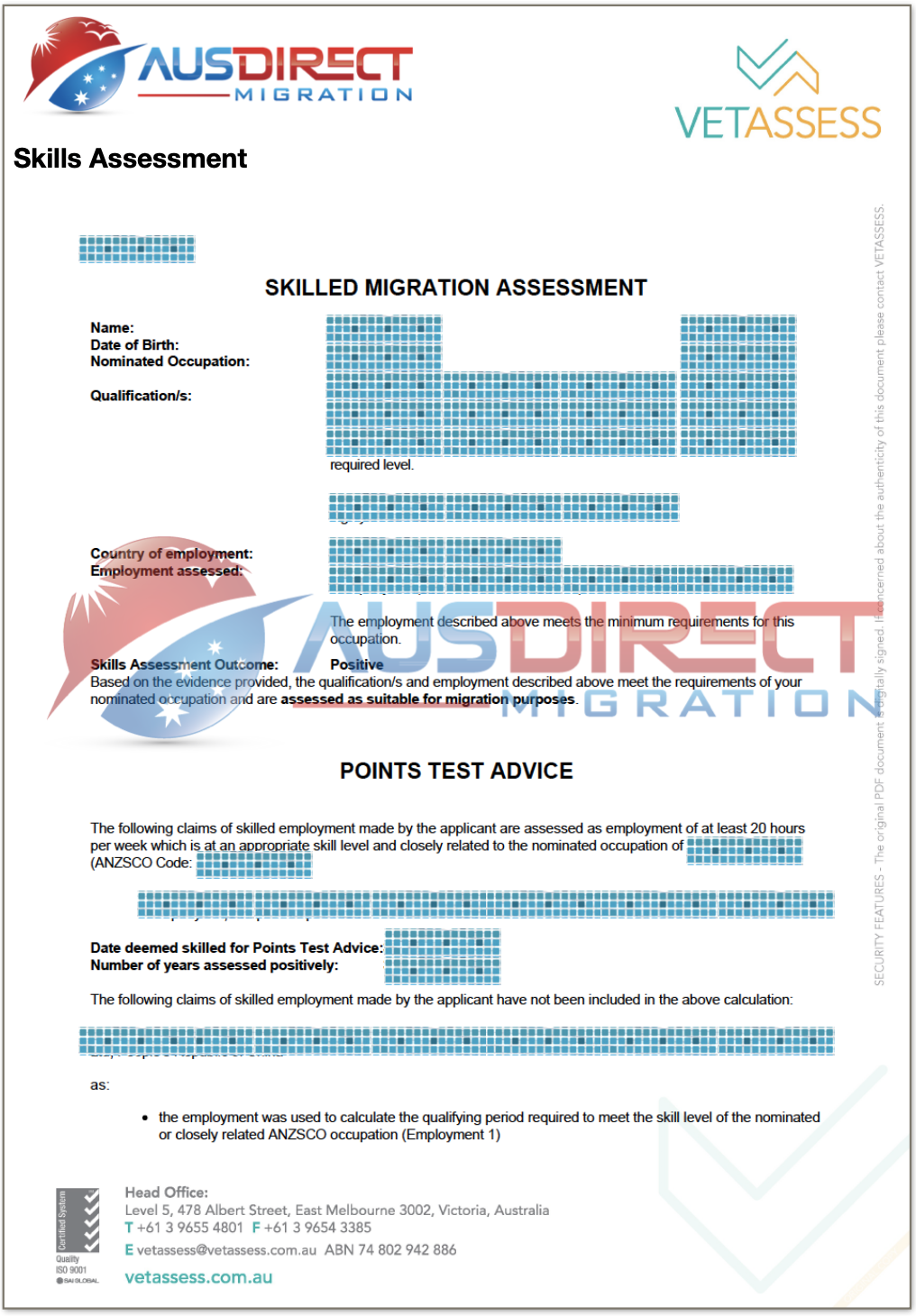 Skills Assessment (VETASSESS)