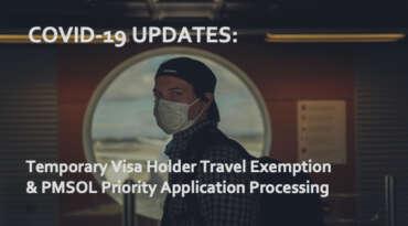 Australia COVID-19 Temporary Visa Holder Border Entry Exemption